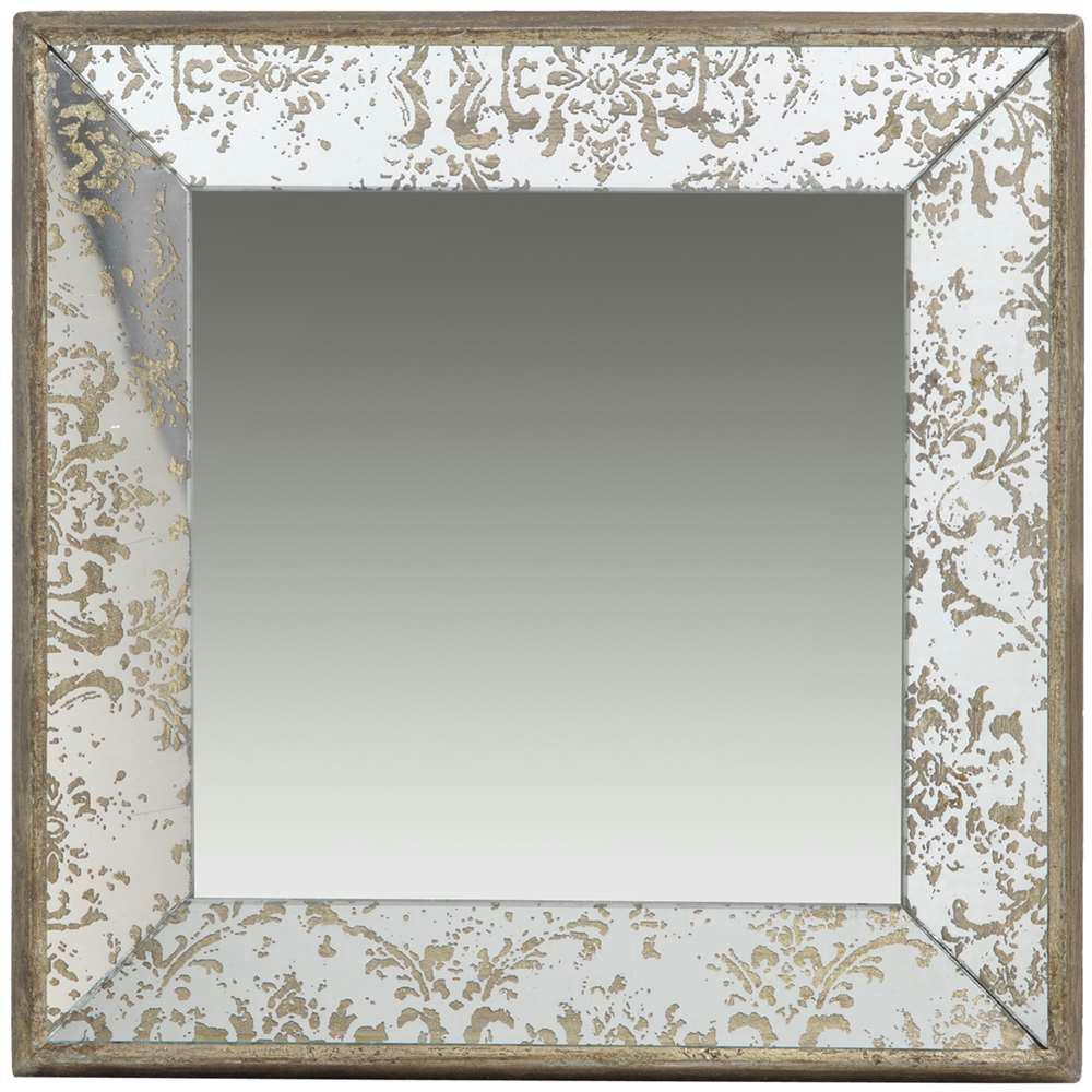 Decorative Mirror A B Home 15 5 In X 15 5 In Decorative Mirror Tray In Rustic Brown