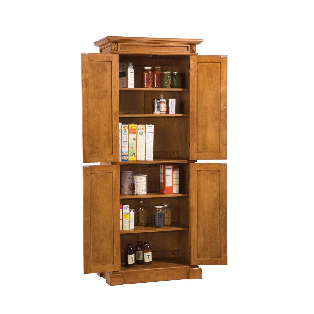Kitchen Pantry Cabinet Home Depot Home Styles Distressed Oak Pantry-5004-69 - The Home Depot