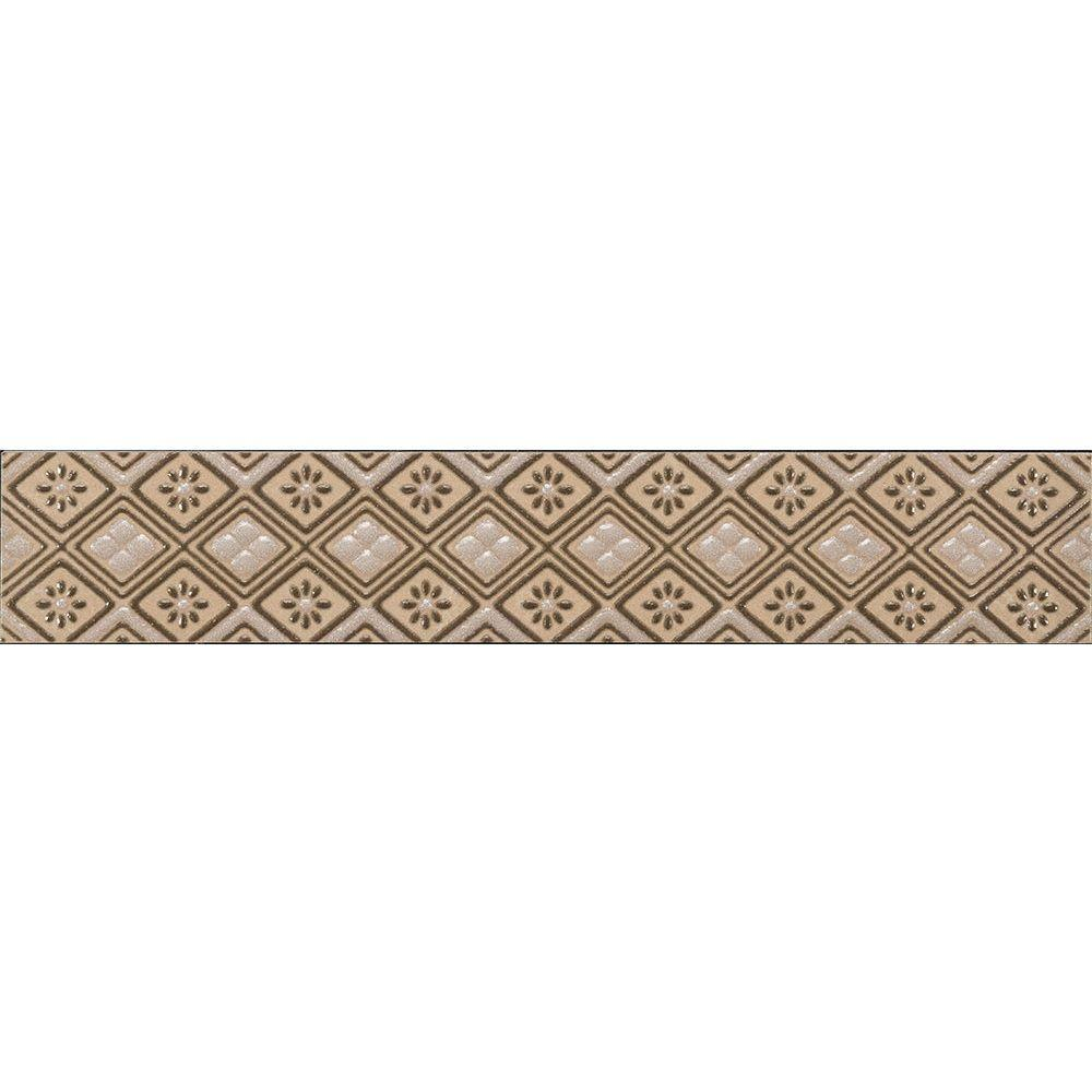 Tile Listello Florida Tile Home Collection Favrales Beige 1 3 4 In X 10 In Ceramic Wall Listello Tile