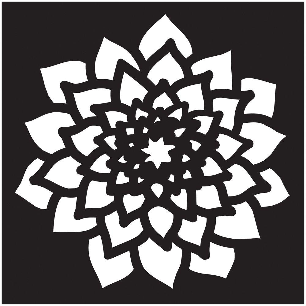 Stencils For Painting Folkart Small Dahlia Painting Stencil-30927 - The Home Depot