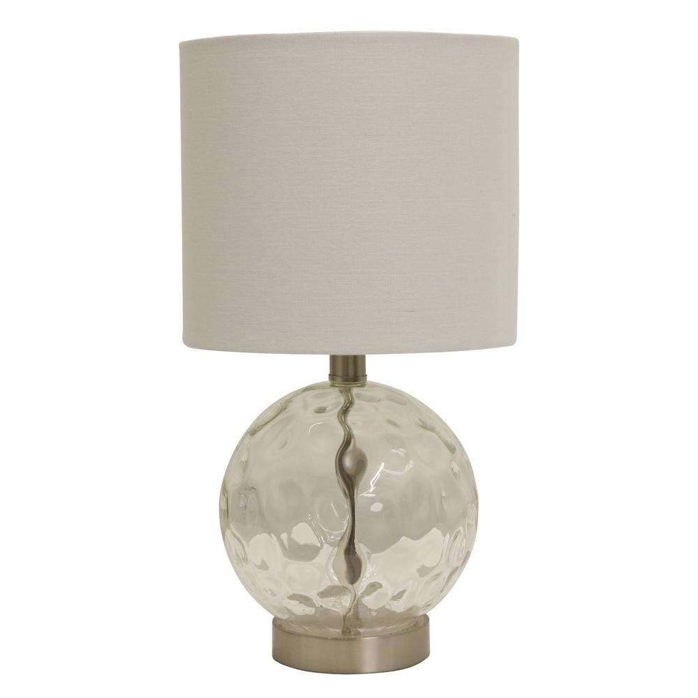 Coastal Lamps Decor Therapy Holland 16 75 In Coastal Glass Clear Orb Table Lamp With Shade
