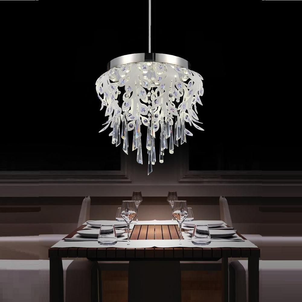 Led Chandelier Cwi Lighting Frost 38 Watt Chrome Integrated Led Chandelier