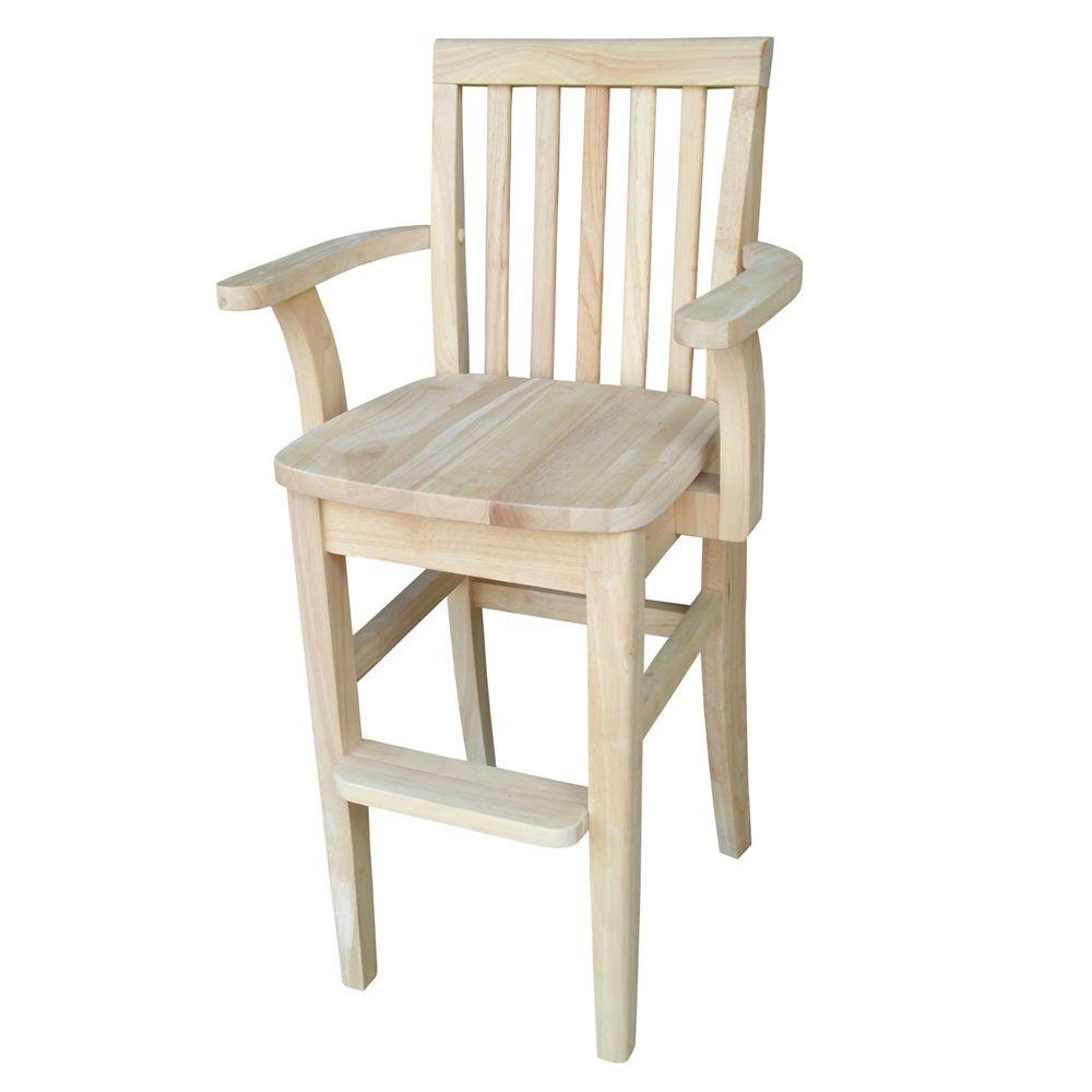 Big W Kids Chair Details About Kids High Chair With Arms 22 Inches Seat Height Unfinished Toddler Safety Sturdy