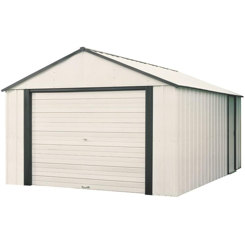 Garage Storage Buildings Arrow Murryhill 14 Ft X 21 Ft Vinyl Coated Garage Type Steel Storage Shed