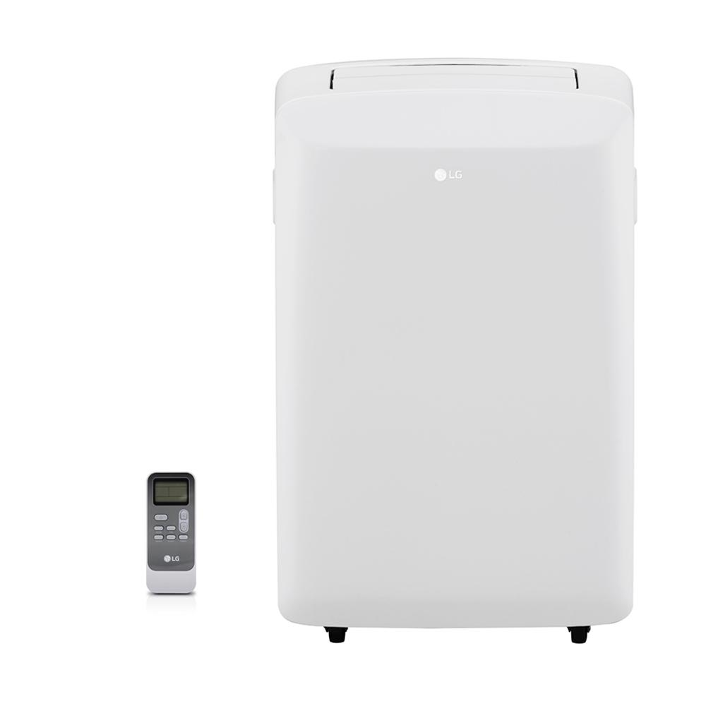 Portable Ac Home Depot Lg Electronics 8 000 Btu 5 500 Btu Doe 115 Volt Portable Ac W Dehumidifier Function And Lcd Remote In White