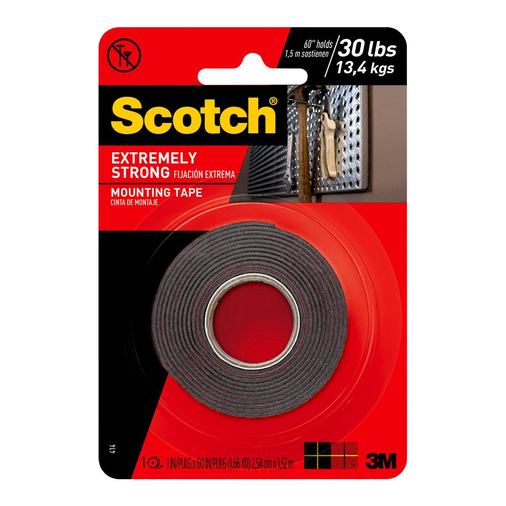 3m Vhb Tape Canada 3m Scotch 1 In X 1 66 Yds Permanent Double Sided Extreme Mounting Tape