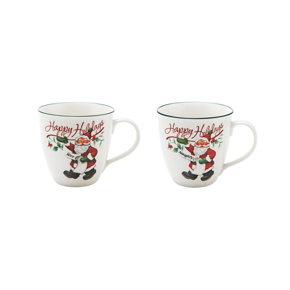 Where To Buy Nice Coffee Mugs Winterberry Assorted Naughty And Nice Coffee Mugs Set Of 2