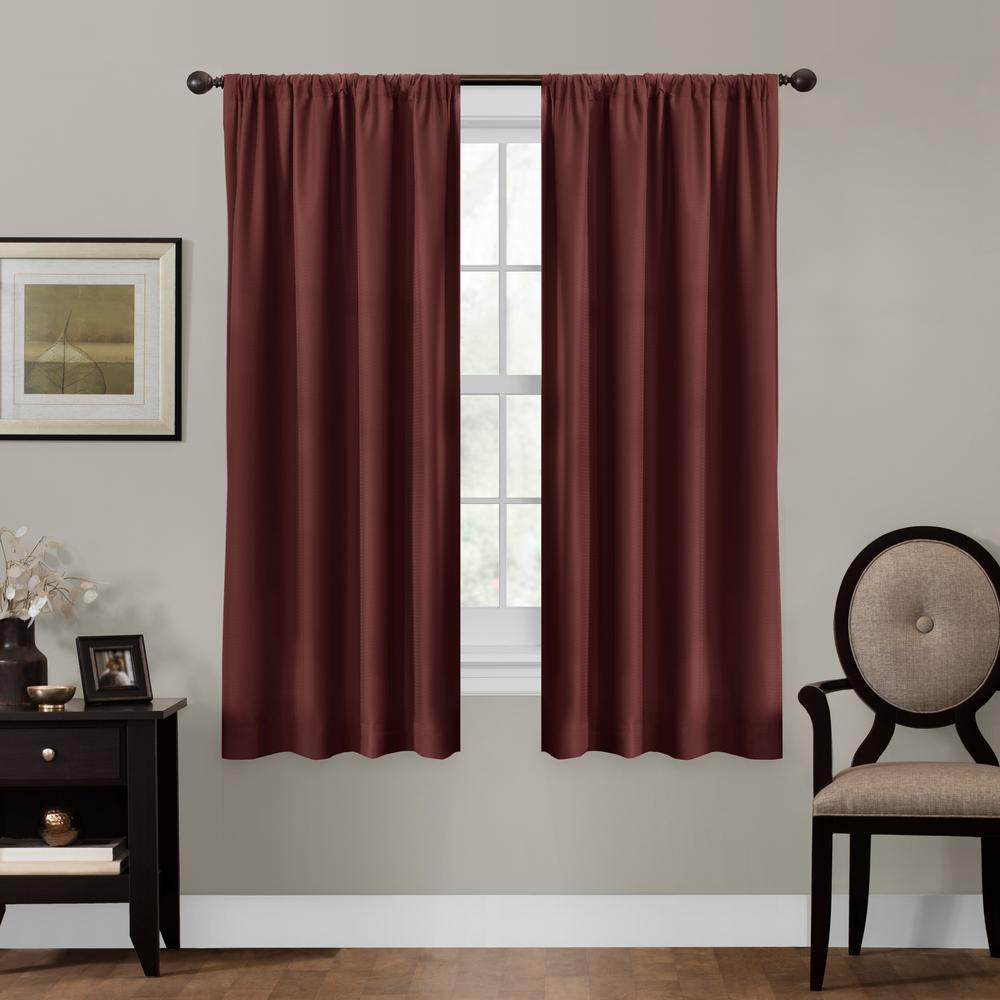 94 Inch Blackout Curtains Maytex Julius 50 In X 63 In 100 Blackout Smart Curtain Window Curtain Panel