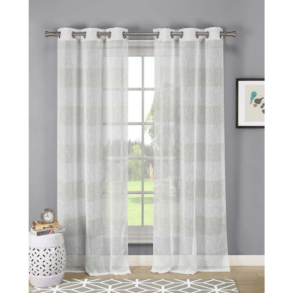 Linen Stripe Shower Curtain Dainty Home Lurex Stripe 84 In Linen Look With Lurex In Champagne 2 Pack