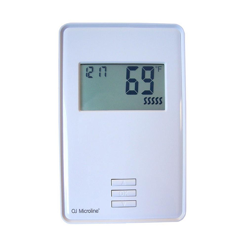 Heating Thermostat Oj Electronics Digital Non Programmable Thermostat For Electric Underfloor Heating In White