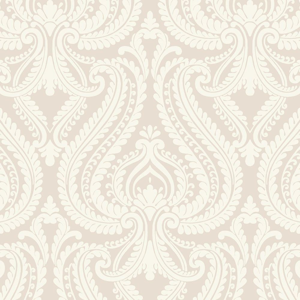 Chic Contemporary Modern Wallpaper Imperial Grey Modern Damask Wallpaper