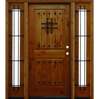 Pacific Entries 66in.x80in. Rustic 2-Panel V-Groove ...