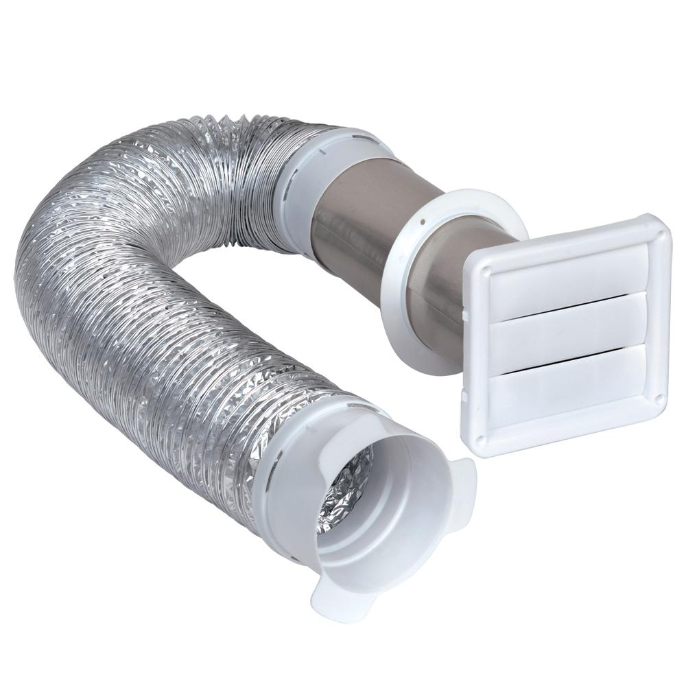 Dryer Vent Insulation Globalflex 4 In X 8 Ft Flexible Louvered Dryer Vent Kit