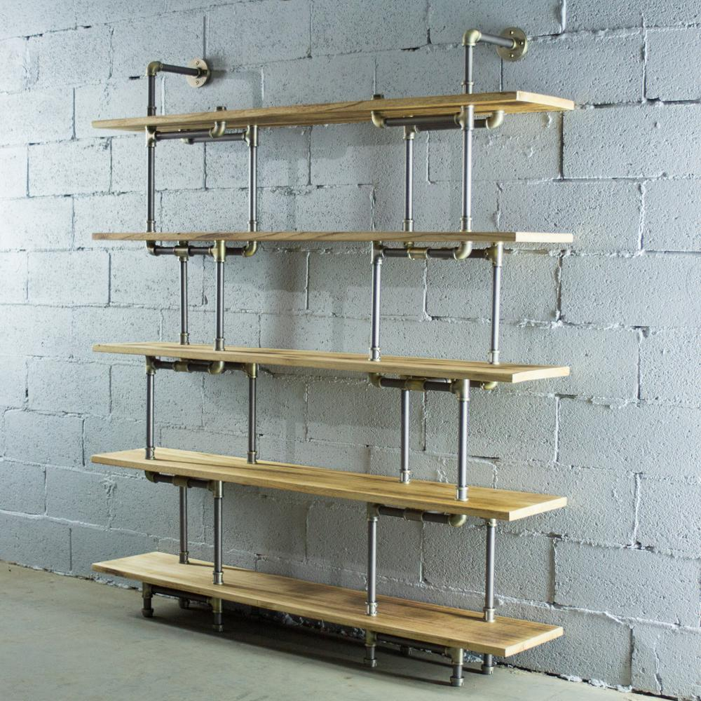 Etagere Cd But Os Home And Office Furniture Brushed Brass Industrial Pipe Wall