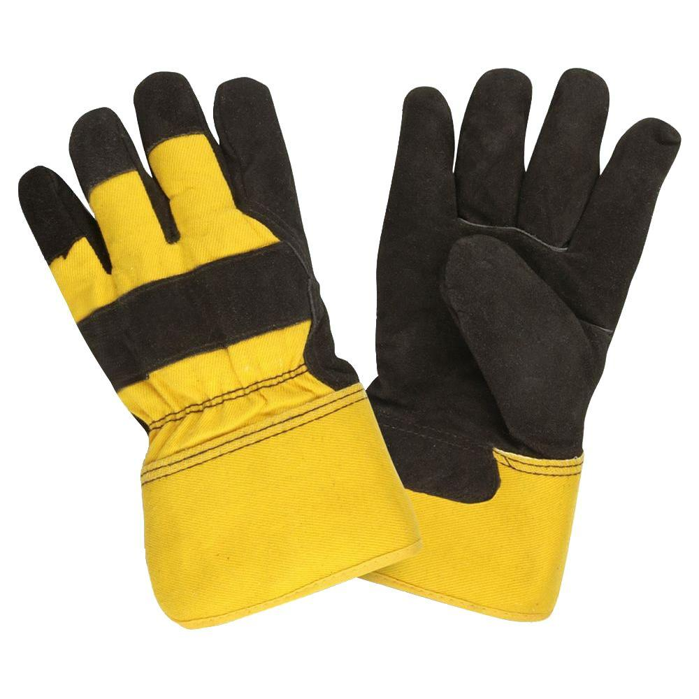 Cordova thinsulate lined split cow leather palm large work glove rubberized safety cuff