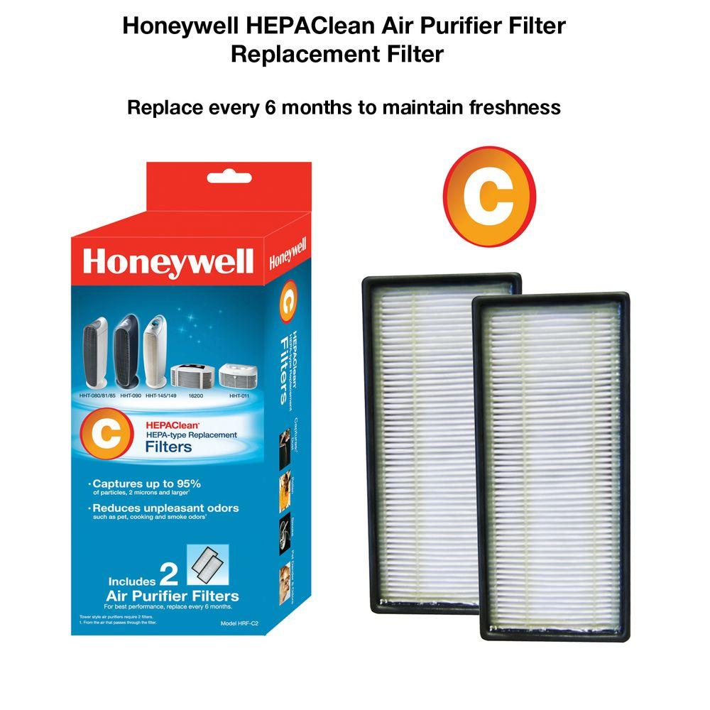 Honeywell Air Cleaner Filter Honeywell Hepaclean Replacement Filter C (2-pack)-hrf-c2