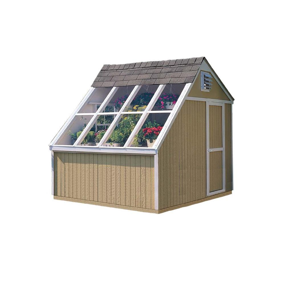 Home Depot Sheds For Sale Handy Home Products Phoenix 10 Ft X 8 Ft Solar Shed With Floor Kit