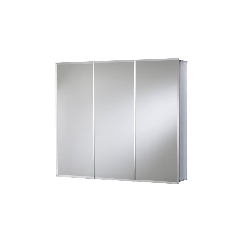 Recessed Shaving Cabinets Croydex 30 In W X 26 In H Frameless Aluminum Recessed Or Surface Mount Bathroom Medicine Cabinet With Easy Hang System