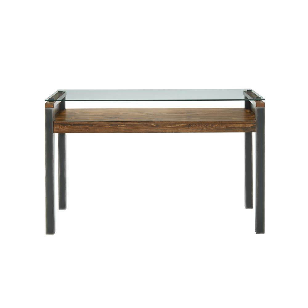 Glass Top Console Table Midtown Toffee Glass Top Sofa Console Table