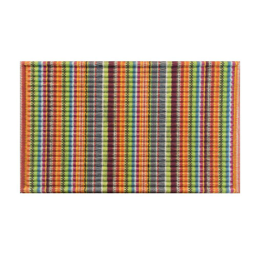 Big W Floor Mat Stripe 18 In X 30 In Door Mat