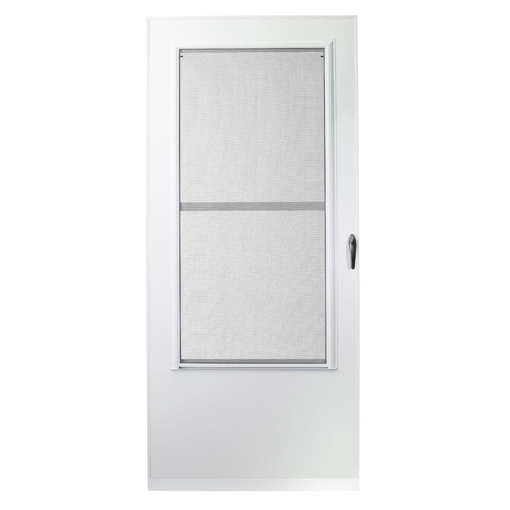 Storm Doors Edmonton 34 In X 80 In 100 Series White Self Storing Storm Door
