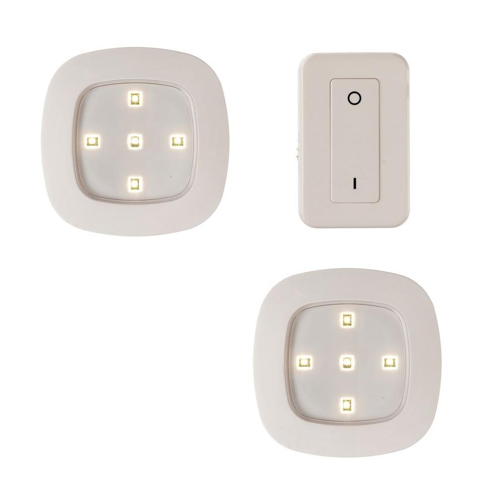 Spot Led Telecommande Light It White Wireless Remote Control Led Puck Lighting System