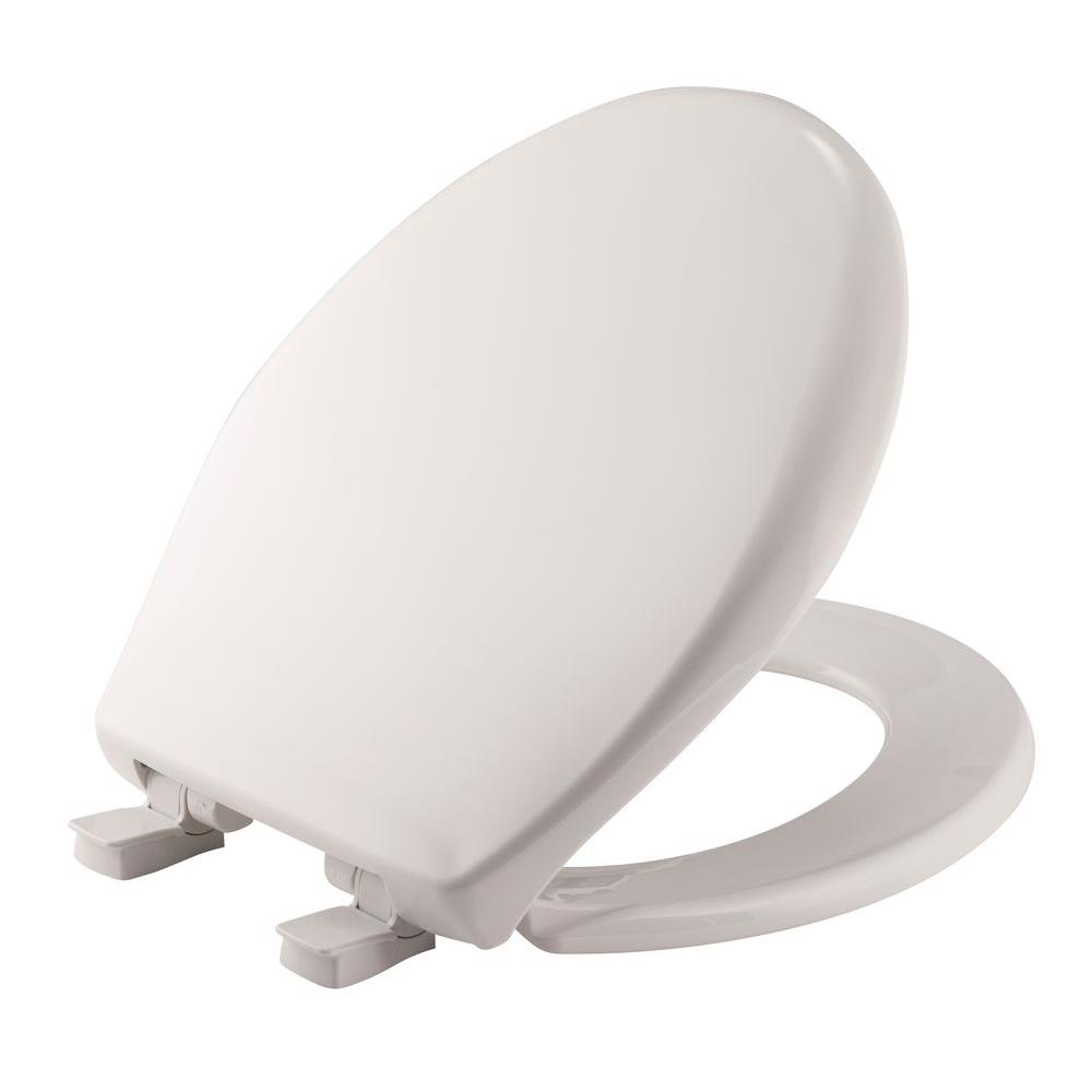 Toilet Seat Bemis Lift-off Round Closed Front Toilet Seat In White