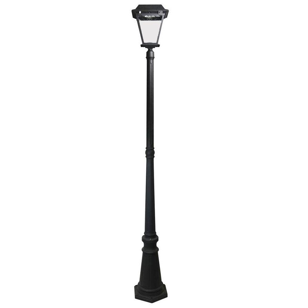 Solar Lamp Post Xepa Stay On Whole Night 300 Lumens Black Outdoor Solar Led Post Lamp