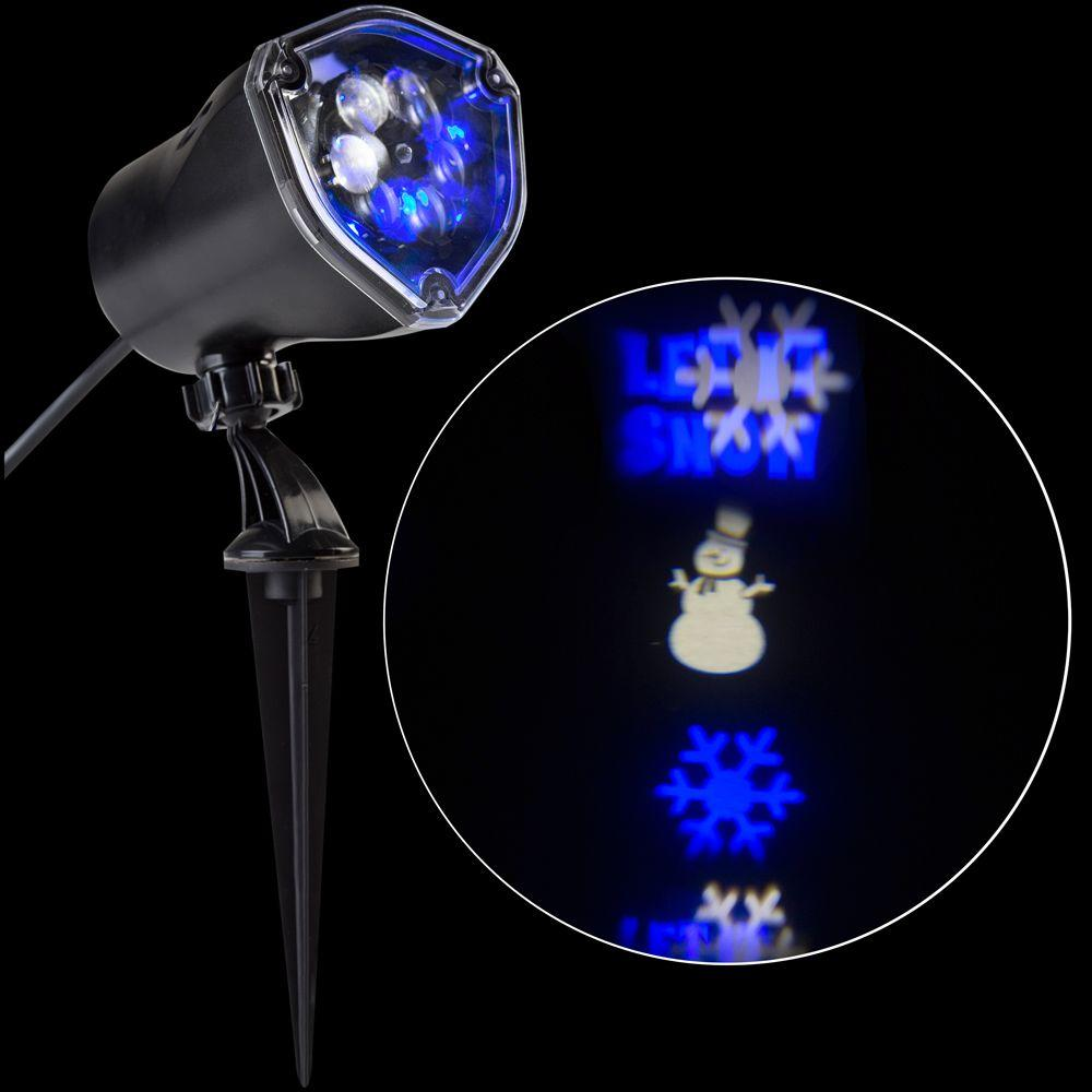 Light Projector Lightshow Led Projection Whirl A Motion Snowman Bbww Stake Light Set