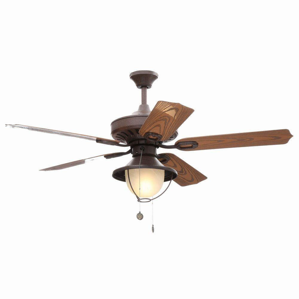 Rustic Ceiling Fan Light Fixtures Westinghouse Lafayette 52 In Indoor Outdoor Weathered Iron Finish Ceiling Fan