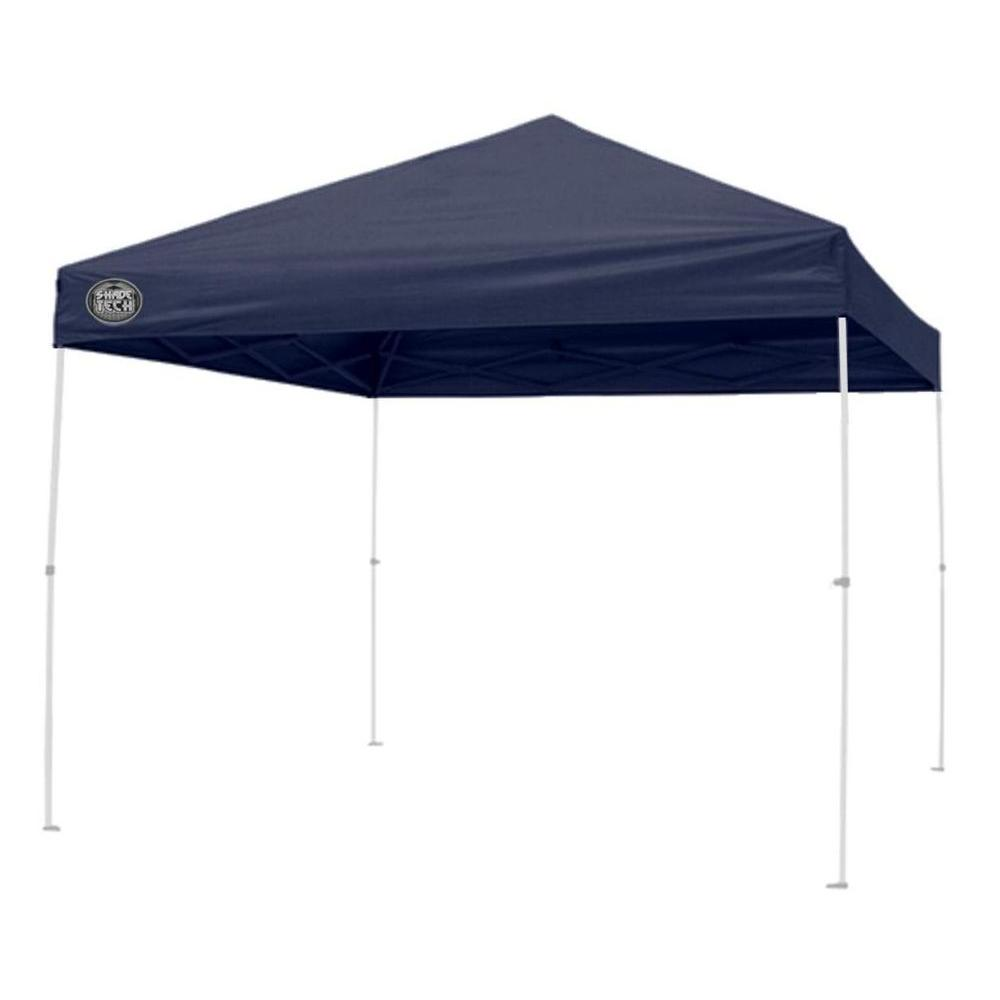 Pop Up Sun Shelter Canada Shade Tech St64 8 Ft X 8 Ft Straight Leg Instant Patio Canopy In Dark Blue