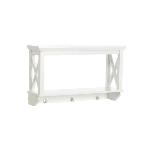 Medium Of White Bathroom Wall Shelf