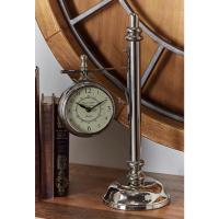 Vintage Silver Lamp Post Table Clock-43483 - The Home Depot