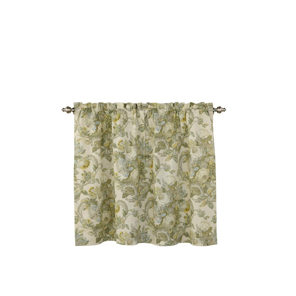 36 Inch Room Darkening Curtains Waverly Spring Bling Window Curtain Tier Pair In Platinum 52 In W X 36 In L