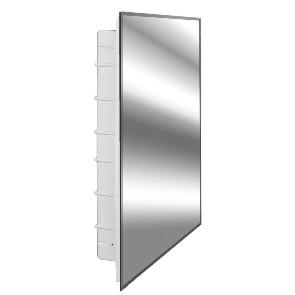 14 X 18 Recessed Medicine Cabinet Nunki 16 In X 26 In X 3 1 2 In Frameless Recessed 1 Door Medicine Cabinet With 6 Shelves And Beveled Edge Mirror