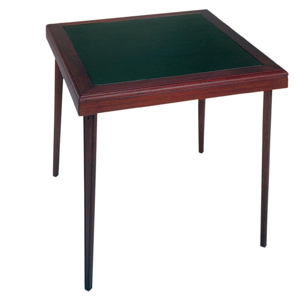 Folding Card Table Canada Cosco Espresso 32 In X 32 In Square Wood Vinyl Folding Table