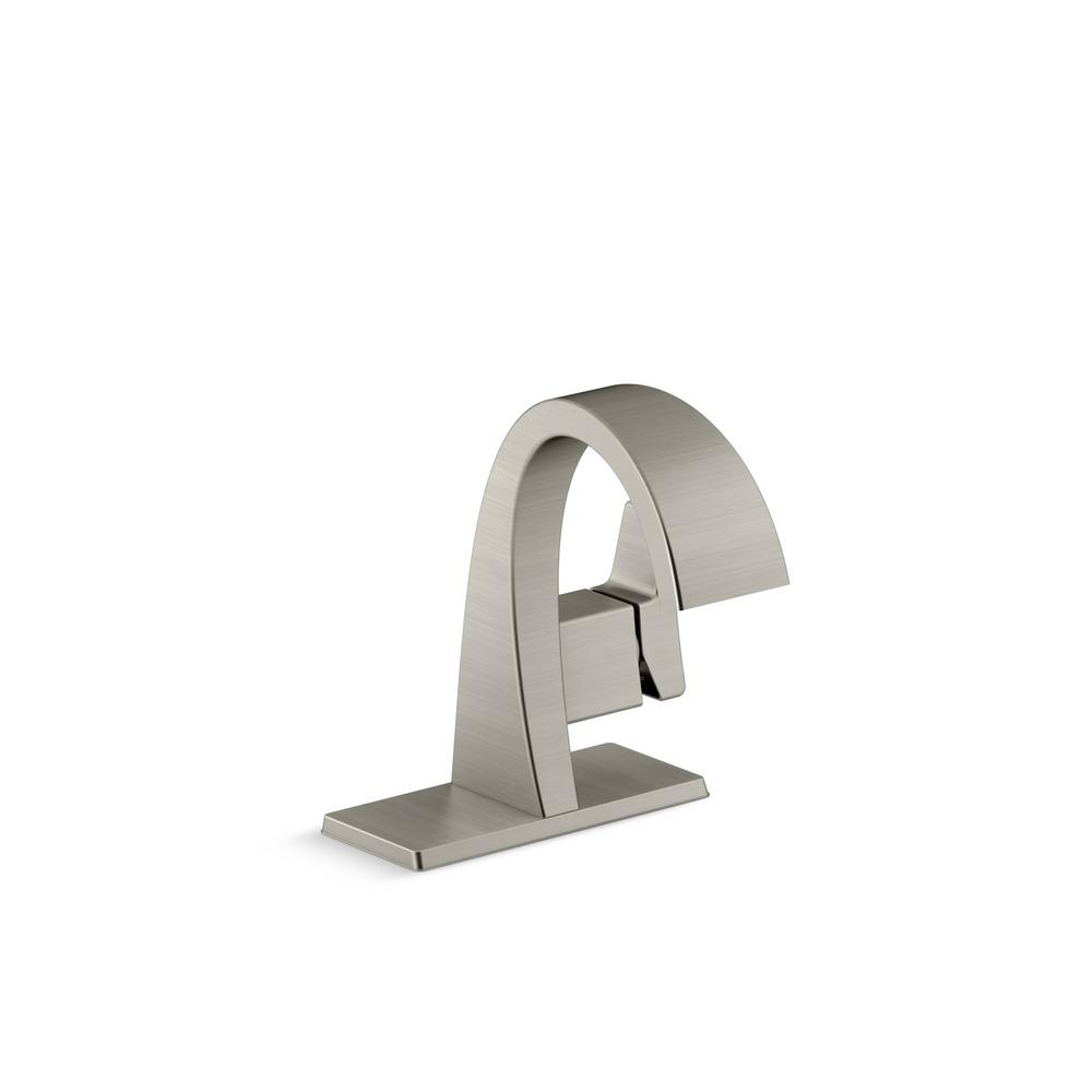 Bathroom Kohler Kohler Katun Single Hole Single Handle Bathroom Faucet In Vibrant Brushed Nickel