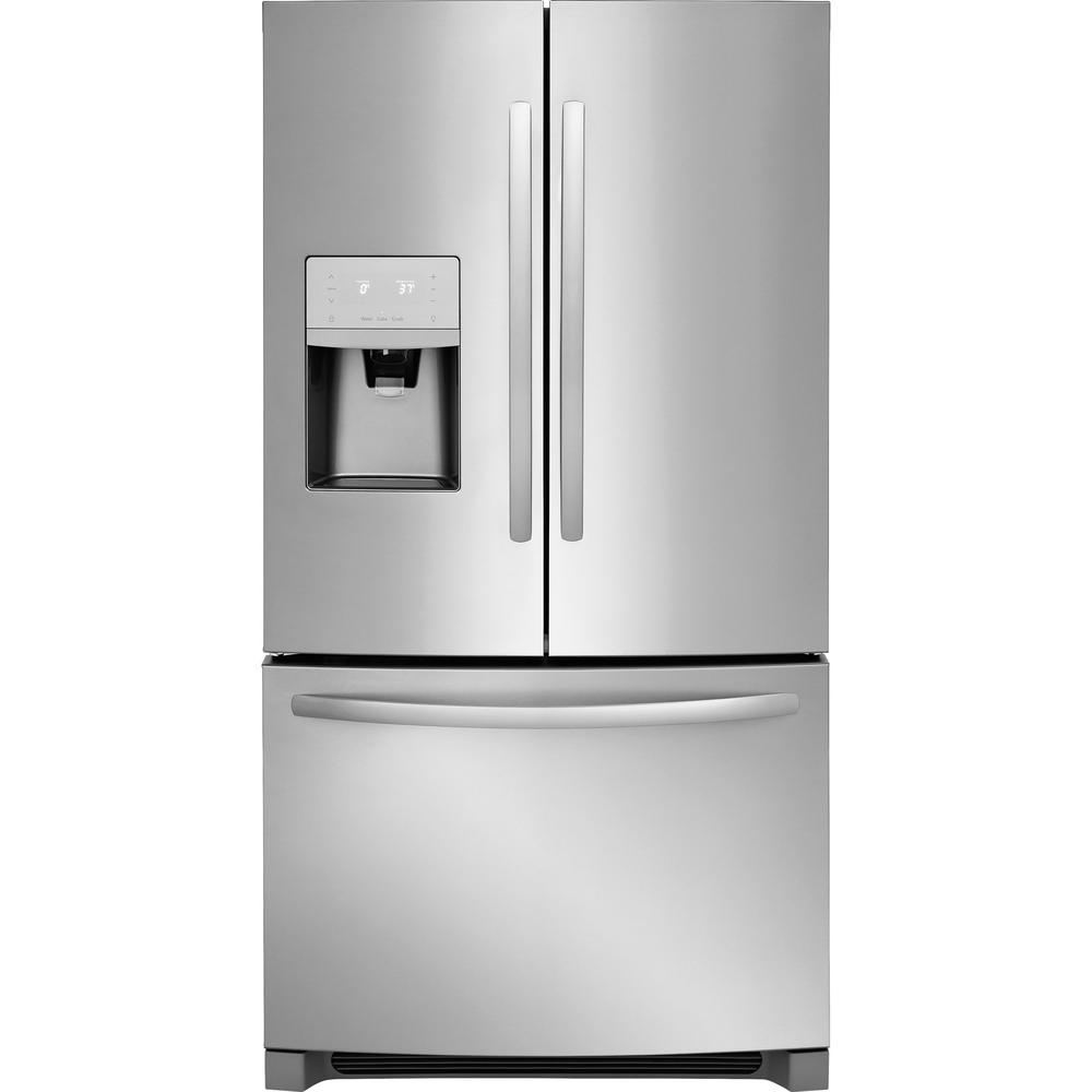 Home Depot Fridges Canada Frigidaire 26 8 Cu Ft French Door Refrigerator In Stainless Steel