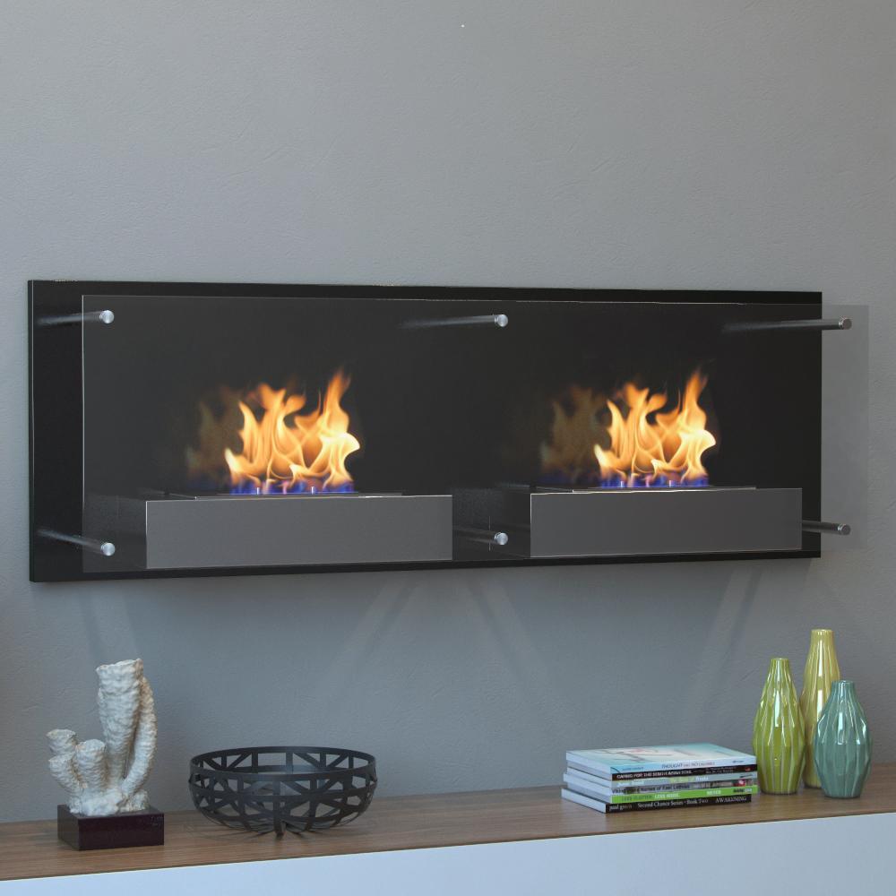 Moda Flame Faro 47 In Wall Mounted Ethanol Fireplace In