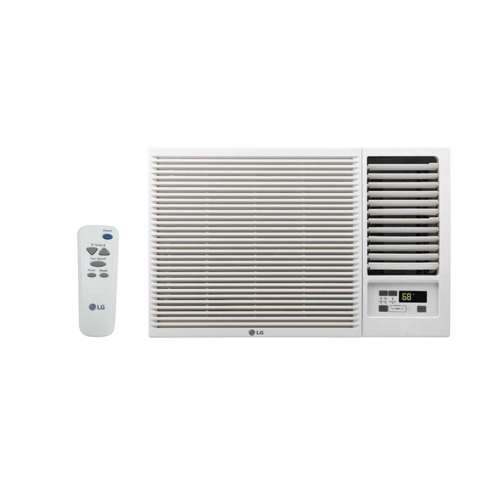 Heat Air Lg Electronics 7 500 Btu 115 Volt Window Air Conditioner With Cool Heat And Remote