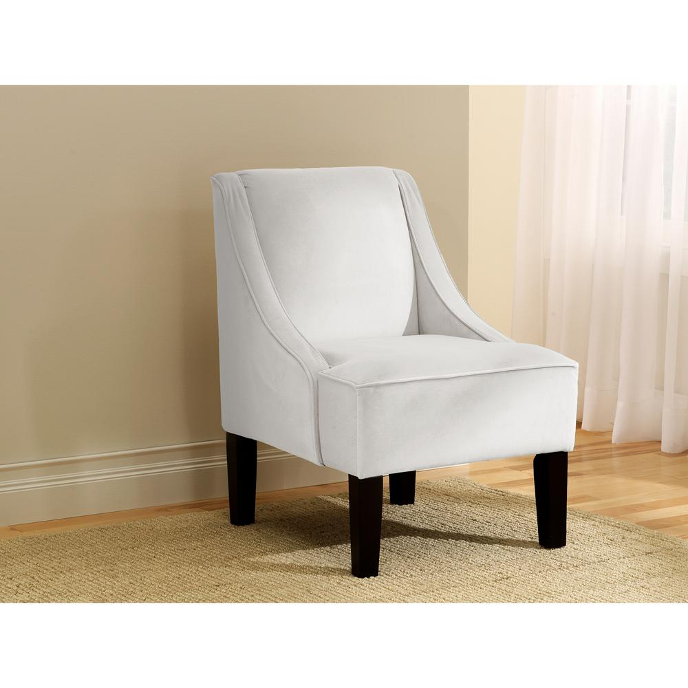 Arm Chairs Velvet White Swoop Arm Chair 72 1vlvwht The Home Depot