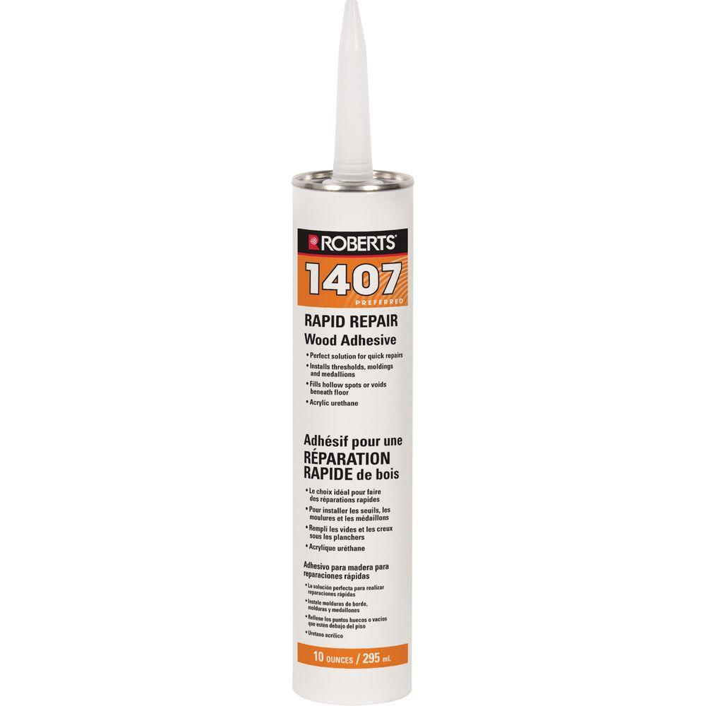 Plancher Home Depot Roberts 10 Oz Cartridge Tube Of Rapid Repair Wood Flooring Adhesive