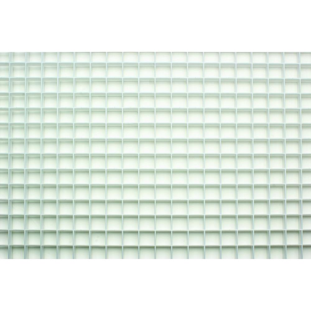 Fluorescent Light Diffuser Panels 23 75 In X 47 75 In White Egg Crate Styrene Lighting Panel 5 Pack