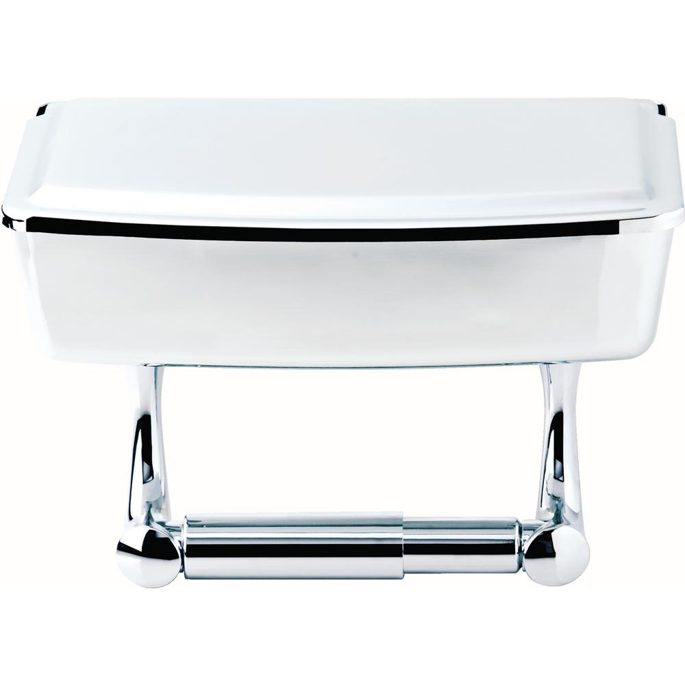 Covered Toilet Paper Storage Delta Toilet Paper Holder With Privacy Storage In Polished Chrome