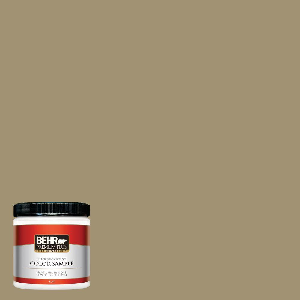 Bank St Home Depot Behr Premium Plus 8 Oz 380f 6 River Bank Flat Interior Exterior Paint And Primer In One Sample