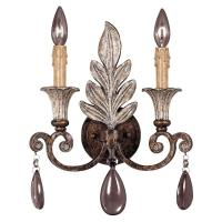 Illumine 2-Light New Tortoise Shell and Silver Sconce with ...