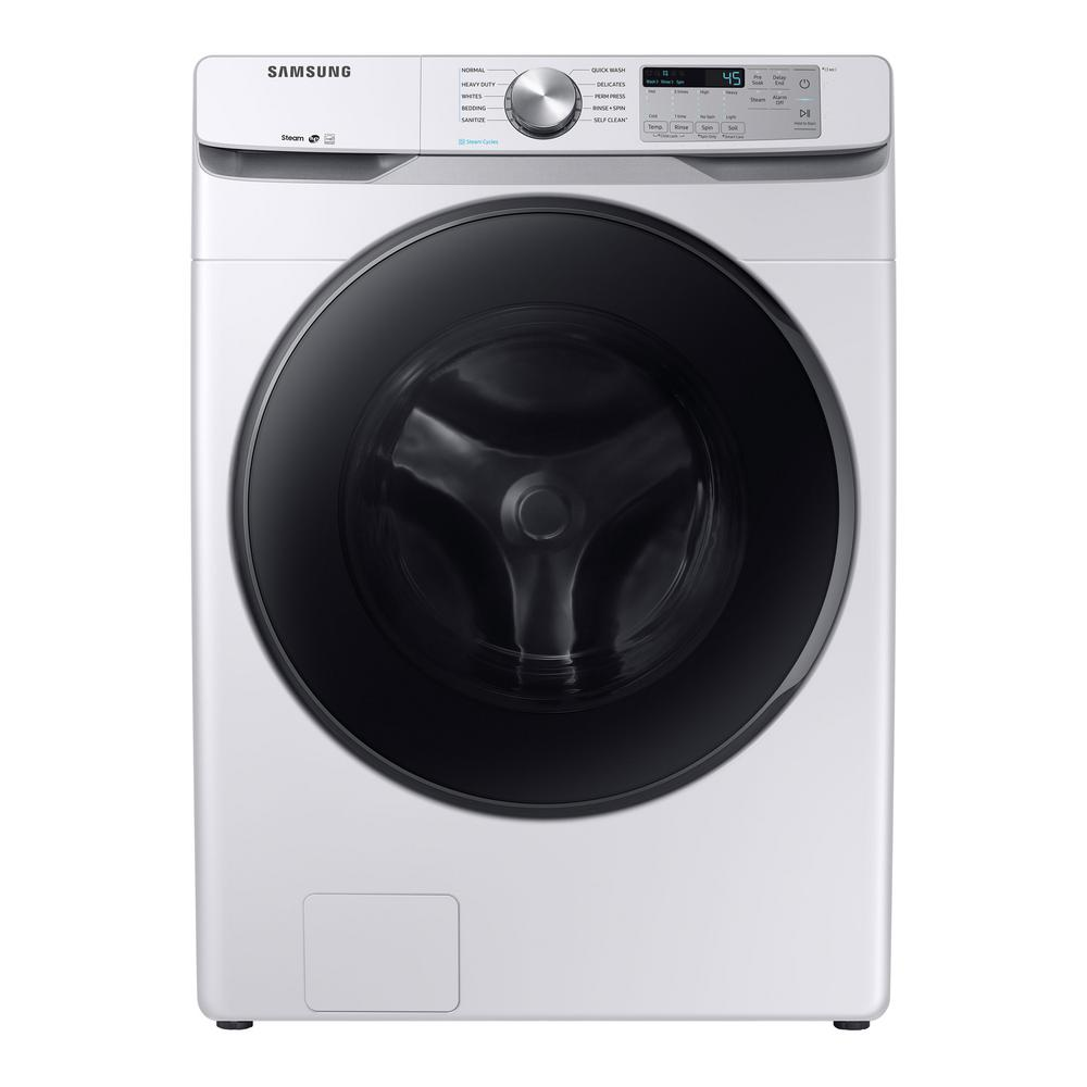 Samsung Front Load Washer Samsung 4 5 Cu Ft High Efficiency White Front Load Washing Machine With Steam Energy Star
