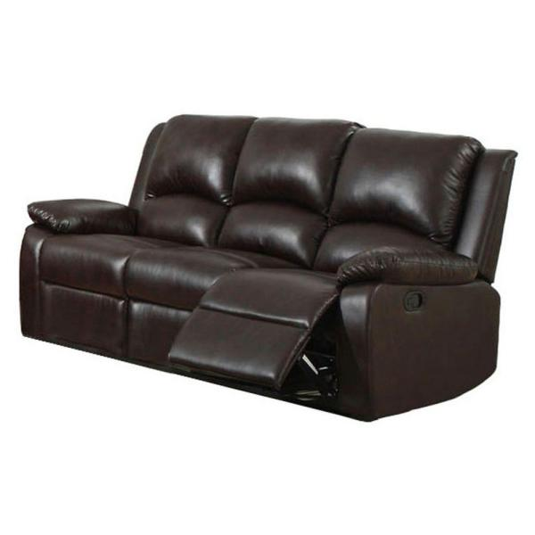Kunstleder Couch Furniture Of America Oxford Rustic Dark Brown Faux Leather