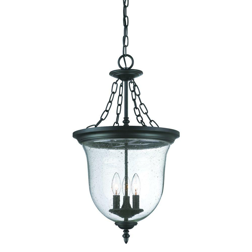 Outdoor Hanging Lamps Acclaim Lighting Belle Collection 3 Light Matte Black Outdoor Hanging Lantern Light Fixture