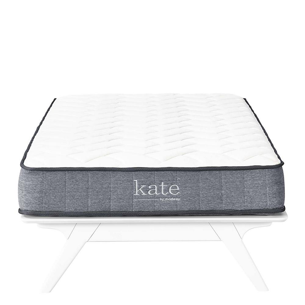 Expanded Queen Mattress Modway Kate 8 In Queen Mattress Mod 5778 Whi The Home Depot